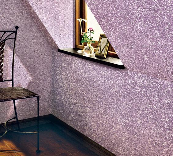 Декоративное покрытие стен флоком