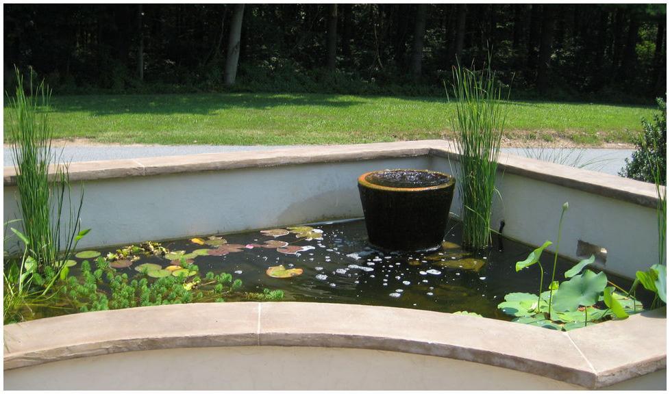 Как сделать декоративный пруд из бетона, с насосом и очисткой воды водорослями