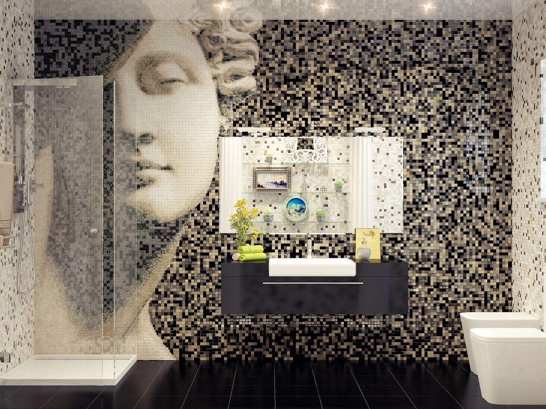 Мозаика керамической плитки в дизайне интерьера