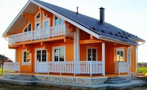 Новое платье деревянного жилища – покраска дома