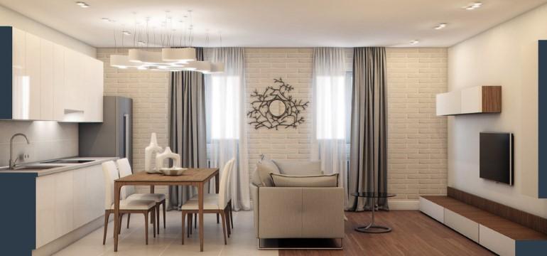 Объединение кухни с комнатой - кухня-гостиная