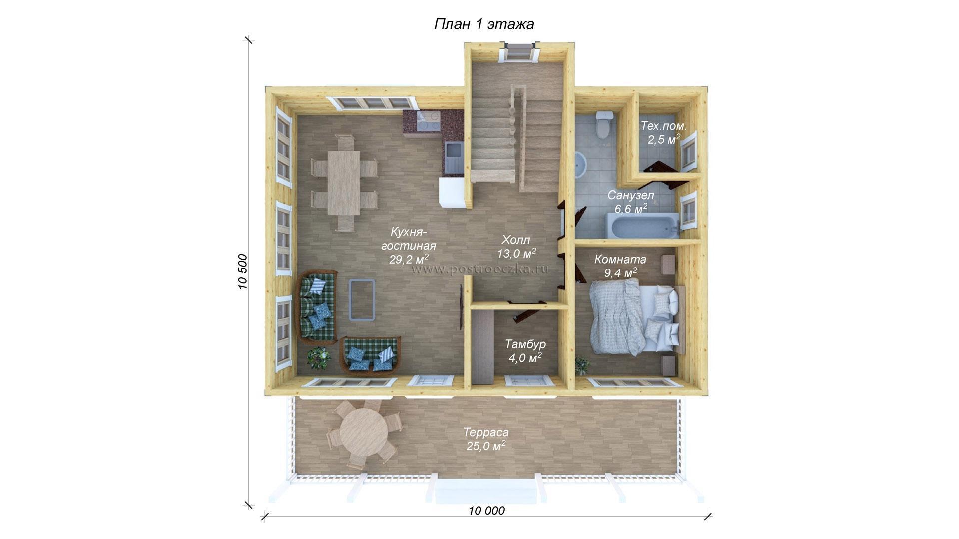 Планирование каркасного загородного дома