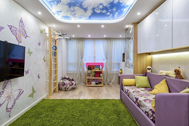 Пол и потолки в детской комнате