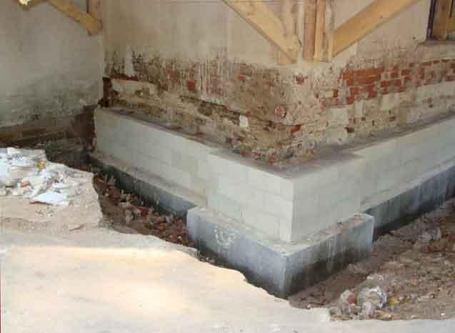 Ремонт фундамента под домом от простого до капитального