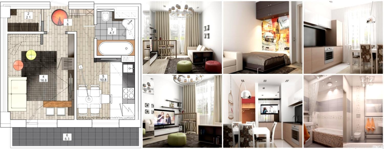 Ремонт и перепланировка однокомнатных квартир