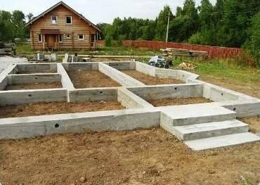 Строительство фундамента для загородного дома