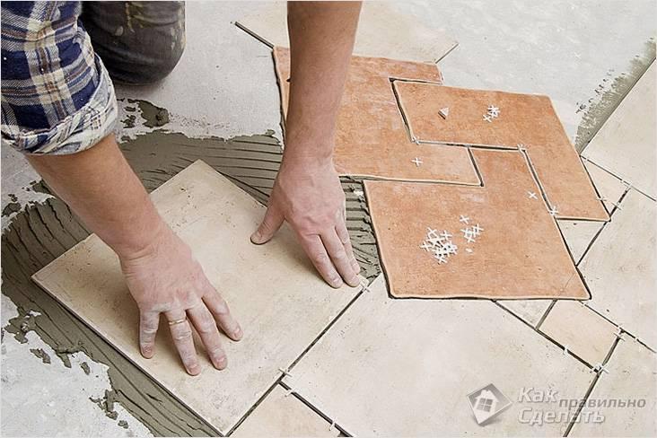 Укладка керамической плитки своими руками - укладываем плитку