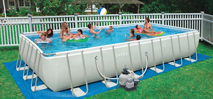 Установка домашних бассейнов
