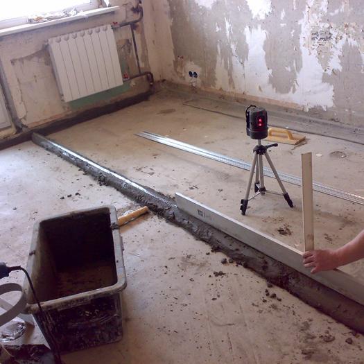 Выравнивание пола своими руками - деревянного пола, бетонного пола